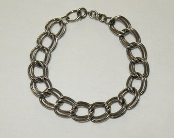 Automade Sterling Silver Chunky Double Chain Link Bracelet  (RC22)