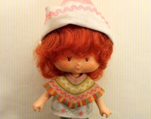 Vintage Strawberry Shortcake Doll Cafe Ole Curled Hands 1979 Second Edition American Greetings