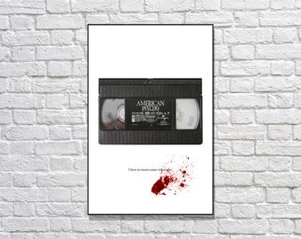 American Psycho Patrick Bateman Minimalist art Movie poster