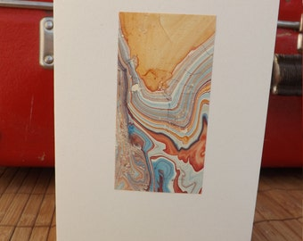 marbled cards -with the illusion of abstract landscapes!