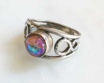 Vintage 90s Dragon's Breath Sterling Silver Ring 925