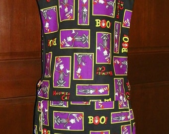 Halloween Cat Kitchen Cobbler *Lined Apron* Smock makes a fun and fabulous Kitchen Accessory, Nanasaprons