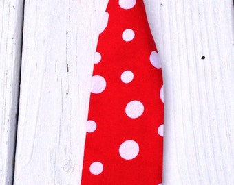 Boys Red Polka Dot Neck Tie, Boys Christmas Tie, Boys Red Tie, 1st Birthday Boy Outfit, Baby Tie Photo Prop, Cake Smash Tie, Birthday Tie
