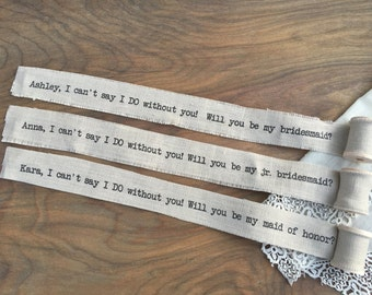 Will You Be My Bridesmaid Invite Keepsake