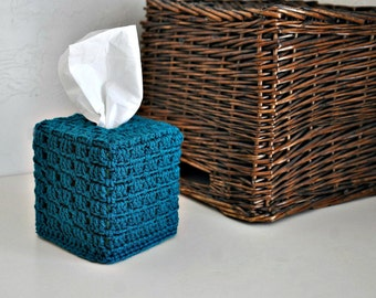Teal Tissue Cover Bathroom  Nursery Decoration  Home Decor Granny Chic