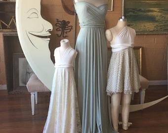 Song of Sagebrush Maxi Infinity Convertible Wrap Dress~ Greyed Jade, Sage, Dusty Mint, Bridesmaids, Wedding, Maternity, etc.