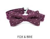 Purple Dot Kids Bow Tie