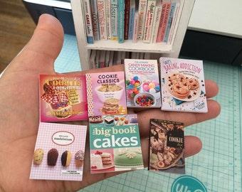 BAKING COOKBOOKS - Choose 1/12 or 1:6 Scale Miniature