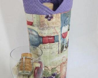 Unique Wine Bag Wine Tote Bag Cocktails Wine-themed Wine Carrier