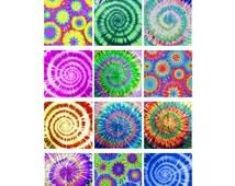PRINTABLE PAPER DOWNLOAD - Groovy Tie Dye Patterns Backgrounds Wallpaper - Digital TiEDYE Instant Download Digital Printable cards  - DiY