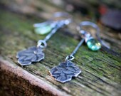 Reserved for JJ - SALE - Secret Garden Earrings #4 - Green Kyanite - Charitable Benefiting Adults with Developmental Disabilities