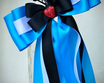 Ready to Ship Disney Bound Couture Alice in Wonderland inspired statement bow, a CKD exclusive limited edition Summer 2016