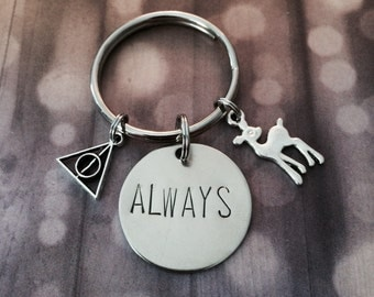 Always - Harry Potter Inspired Keychain, Necklace, Doe, Snape, Lily, Fandom, Gift