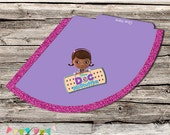 Doc McStuffins Style Party Hat Purple - Birthday Party or Wedding Treat Box - Printable - DIY - Digital File - INSTANT DOWNLOAD!