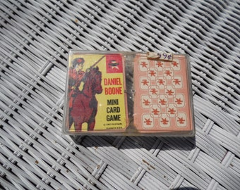 Daniel Boone vintage Mini Card games, set of 2 games, 1967 Edu Cards concentration game and cowboys and Indians game
