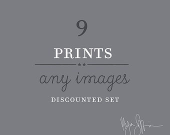 wall gallery, sale, discounted print set, any 9 prints, your choice, photography set, kitchen decor, baby nursery decor, DTLA art prints