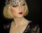 GREAT GATSBY DAZZLE - 20s Headband, Mega Bling Crystal Great Gatsby Headband, Rhinestone Flapper Headband, 20's Bridal Wedding Headpiece