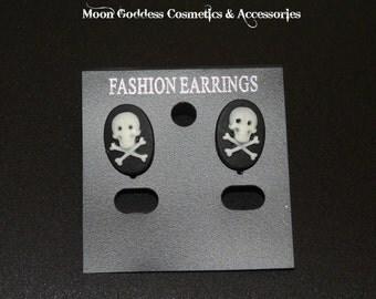 Skull & Bones Stud Earrings