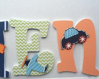 Boys Custom Nursery letters, custom wood letters, custom nursery letters, letters,  boy baby gift, boy nursery