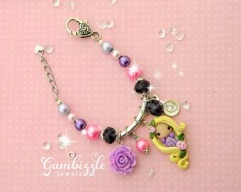 Rapunzel bracelet, Tangled bracelet, Tangled jewelry, Tangled party, Rapunzel jewelry, Rapunzel gifts