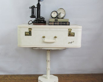 Upcycled 1950s Suitcase - Side Table - Night Stand