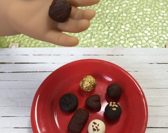 Miniature Assorted Chocolates for American Girl AG Dolls 1:3 scale