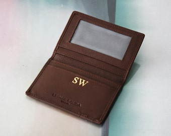 Leather Identity credit card wallet
