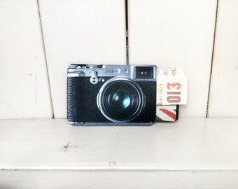 Business Card Holder Retro Camera - Fits Debit, Credit Cards and Gift Cards