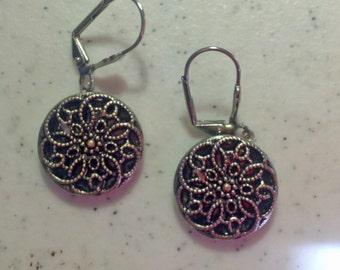 Early 1900s Twinkle Button Earrings