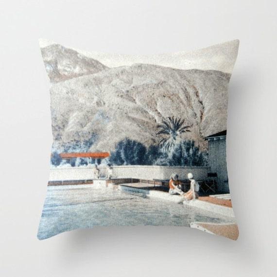 Mid Century Pillow Covers : Mid Century Pillow Cover Decorative Pillow Palm by VintageBeach