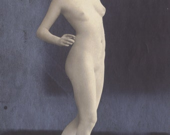 Mature Ping Pong Strategy Number 16: A Show of Confidence in Blocking the Serve Casually. German Nude, circa 1910s