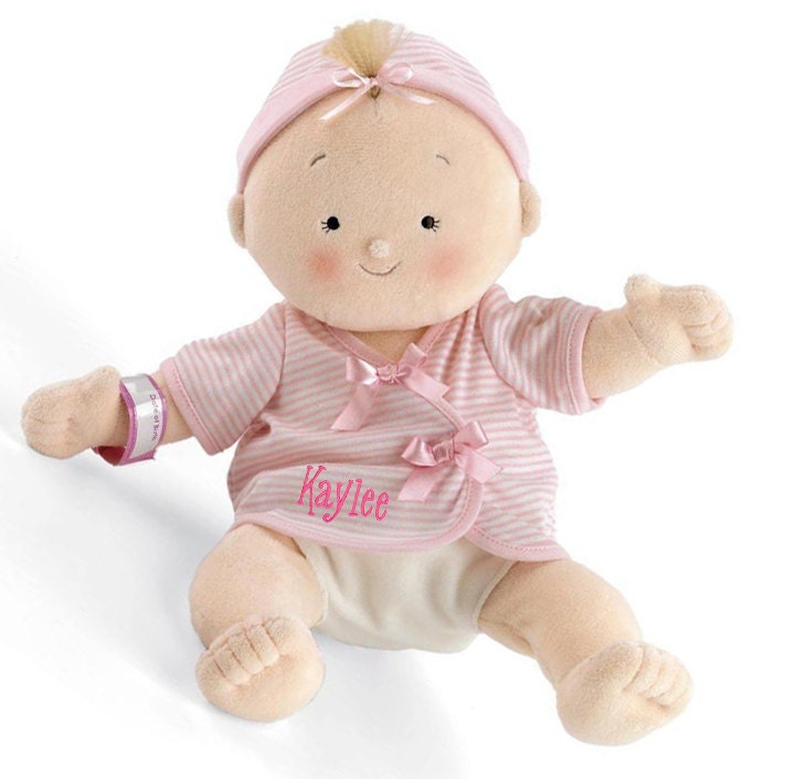 Personalized Rosy Cheeks Soft Blond Girl Baby Doll 15