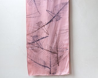 Falling Leaves Silk Scarf