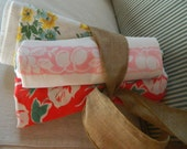 Lot of Three 1940 Tablecloths, Colorful Vintage Linen