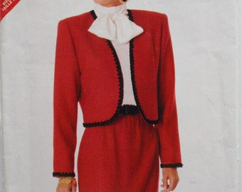 Butterick See and Sew Pattern - Misses/Misses Petite Bolero Jacket and Straight Skirt - Butterick 5980 - Size 16, Bust 36