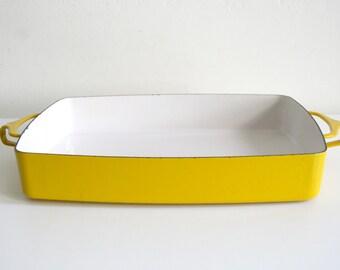 Dansk Yellow Enamel Casserole Pan