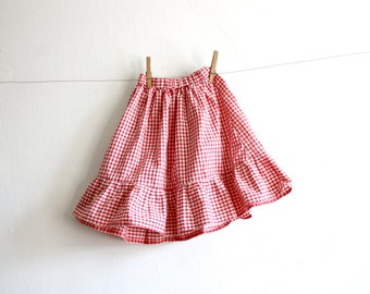 Kid's Gingham Skirt