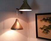 Mid Century Modern Wall Mount Pendant Arm Lamp
