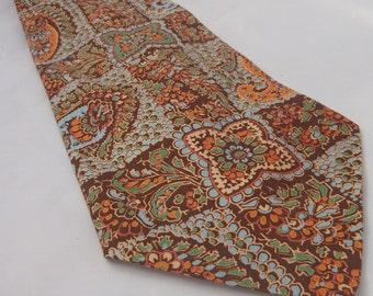 Vintage Mens Necktie Wide Paisley Summer Weight Macy's California