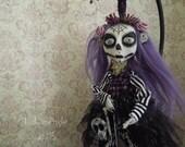 Luciana Dia de Los Muertos Day of the dead hanging Halloween Art Doll OOAK LuLusApple