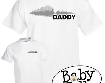 SOUNDWAVE PERSONALIZED shirt for Dad, Grandpa, Papa, any name or phrase you would like -