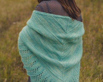 PDF file for Worsted weight shawl-Wide Open Spaces