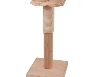 Scratch & Perch Cat Tree - Scratching Post - Cat Perch - Small Cat Tree - Sisal Scratcher