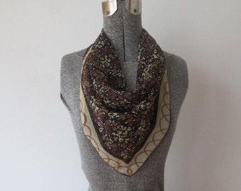Vintage Vera Neumann Verasheer Small Square Silk Scarf