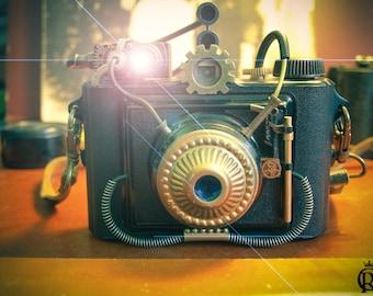 Vintage Camera steampunk custom victorian unique piece atrezzo