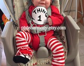 TODDLER Boy or Girl Hat - ONE Hat - Thing 1 Thing 2 Inspired - Photo Prop