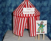 Circus Tent Cake Topper or Table Decoration -  Personalized