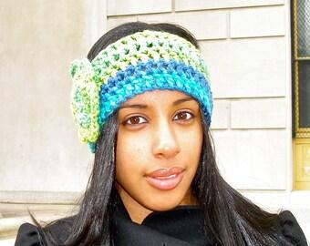 Headband, Flower Headband, Ear Warmer, Crochet,  Multicolor, Women, Teen,Ready To Ship