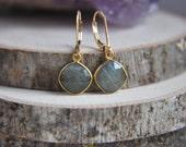 Labradorite Earrings, Stone Earrings, 14k gold filled earrings, Gold Labradorite Earrings, Boho Earrings, Small Labradorite Earrings, Gypsy