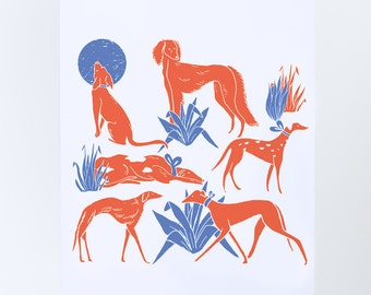 illustrated postcard / animal print / postcards / greeting cards